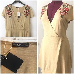 NWT Zara knit cotton dress size medium
